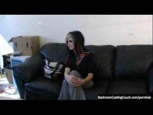 , Goth girlfriend sucks big white cock and deepthroats
